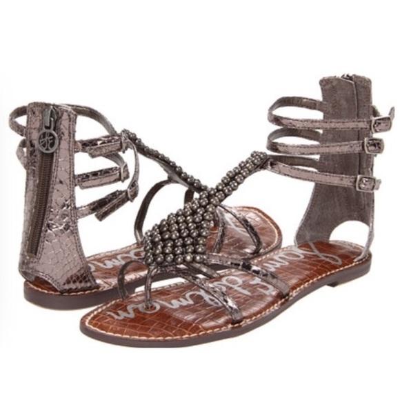 d368af06b50a7d Sam Edelman Ginger Silver Gladiator Sandals 7.5M. M 5aa84f74f9e5019319115415